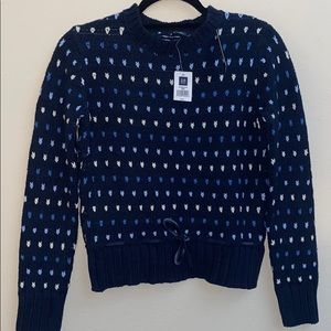 GAP Kids Navy Blue and White Sweater